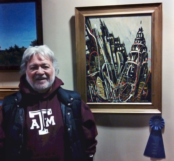 Raymond Gomez '64 and his first-place painting