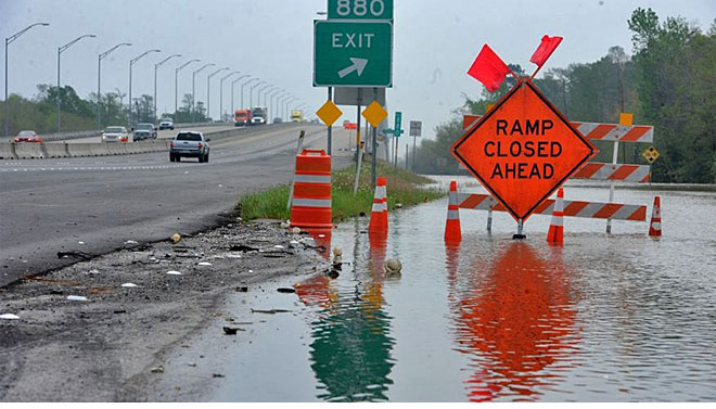 Hurricane Ike flooding in Houston.