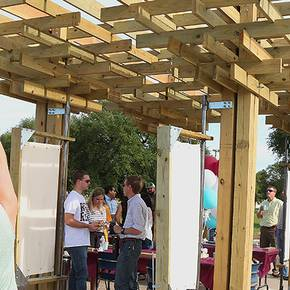 Students design, build structure to house farmers' market in Bryan