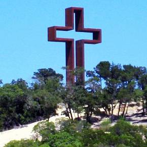 Former student's giant cross, sculptures attracting visitors