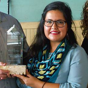 Doctoral student earns awards for organizing 'Dialogo on the Border'