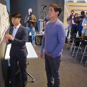 Mavericks' owner guides grad  students' designs of team facility