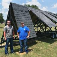 Trailer built at design lab to aid software tests in drone-assisted roof damage assessments