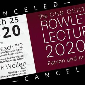 Rowlett lecture canceled