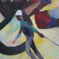 Paintings by late design prof Alan Stacell displayed April 5 – June 29