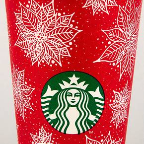 LAND major's poinsettia design adorns Starbucks holiday cups
