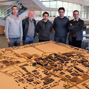 Ph.D. architecture students create physical, digital models of campus