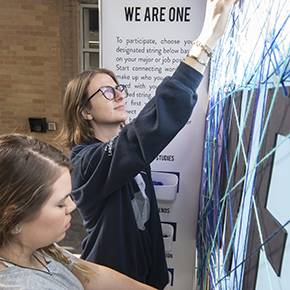Viz seniors use interactive design to connect majors, staff of college