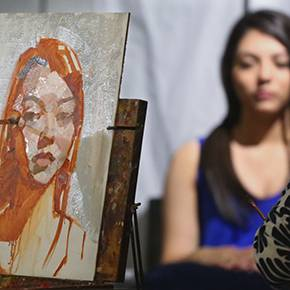 Live art demonstration launched 'Women Painting Women' show