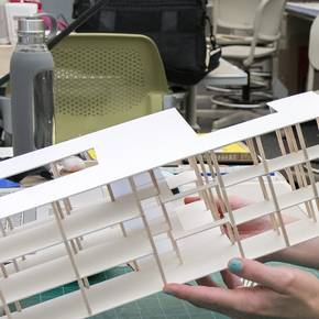 Students show designs for Dallas breast cancer center