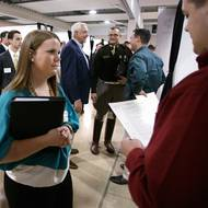 CoSci students seek internships, jobs at department's Career Fair