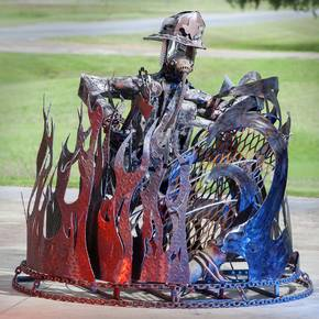 Fabricators' firefighting sculpture wins Queen Theater contest
