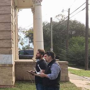 Preservation students document Bryan's historic Temple Freda