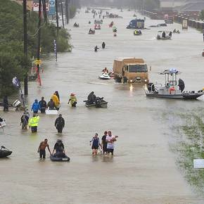 College profs analyze Harvey flooding in print, on radio, TV