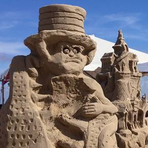 Former students help build top sand sculptures in AIA contest