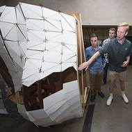 Architecture students craft 3-D sculptures with Harvey rain data