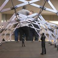 Students design architecturally artistic transformable pavilions