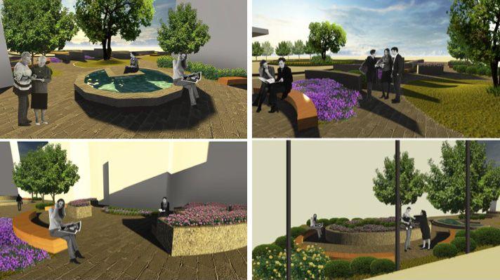 Wang s healing garden design chosen by panel one arch for Garden design proposal