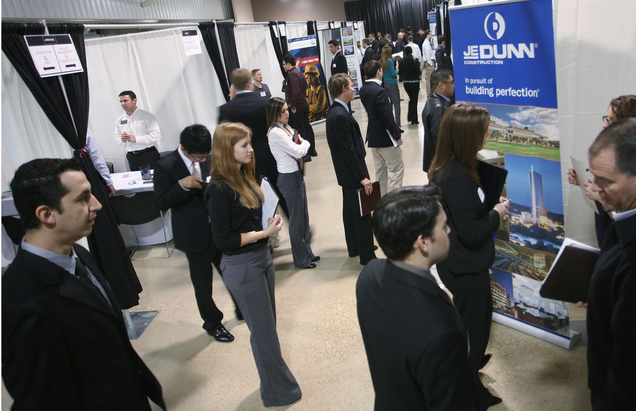 job fair attracts students  firms