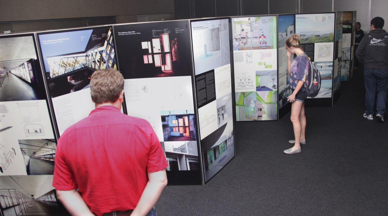 Exhibition Booth In Spanish : Exhibit showcased work of emerging spanish architects