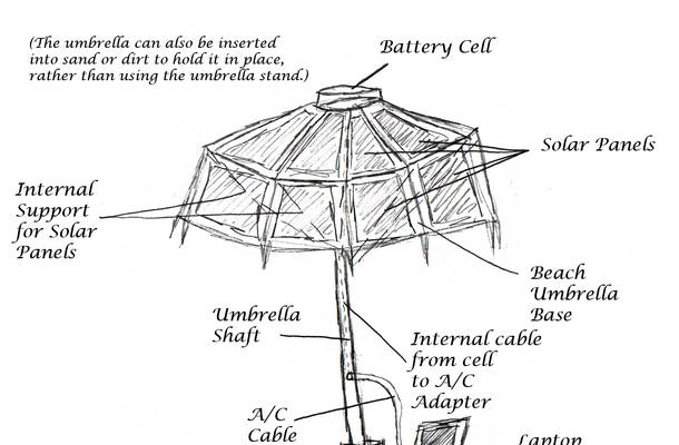 solar umbrella design advances a u0026m team in contest