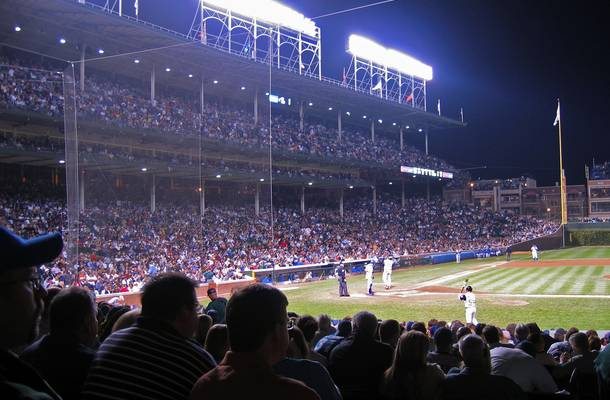 Fans at Wrigley Field